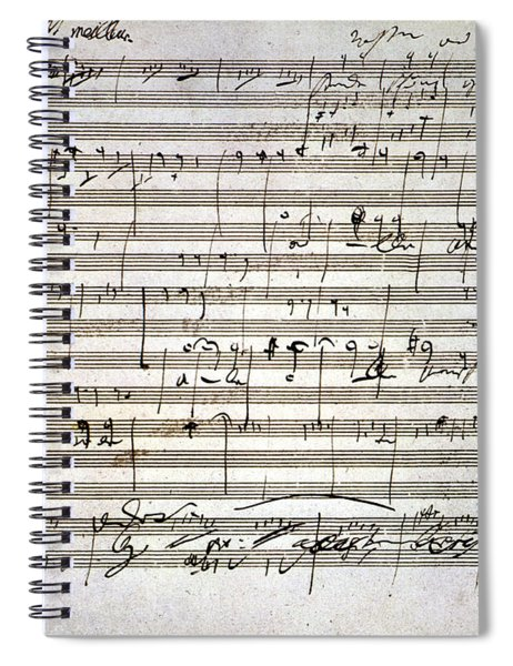 Beethoven Manuscript Spiral Notebook