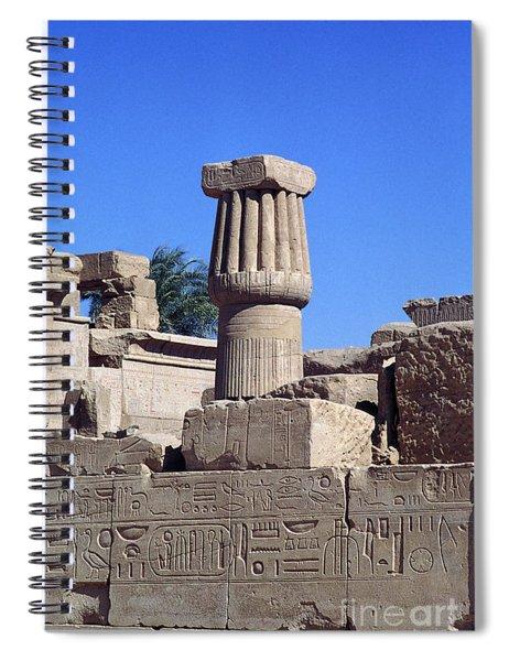 Belief In The Hereafter - Luxor Karnak Temple Spiral Notebook