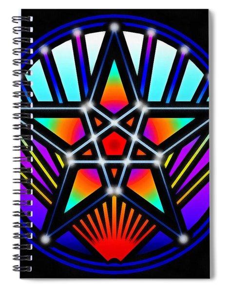Bending Time Spiral Notebook by Derek Gedney