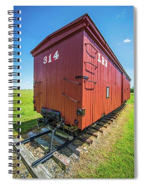 Big Red Caboose Wagon Spiral Notebook by Alex Grichenko