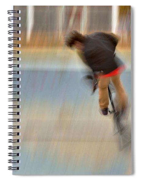 Biking  The Skateboard Park 4 Spiral Notebook