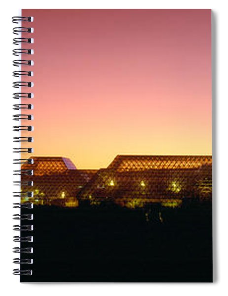 Biosphere 2 At Sunset, Arizona Spiral Notebook