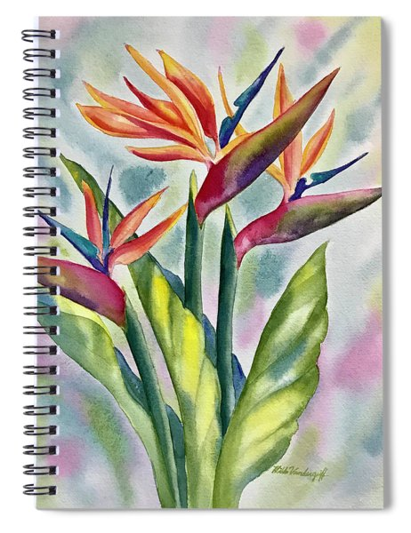 Bird Of Paradise Flowers Spiral Notebook