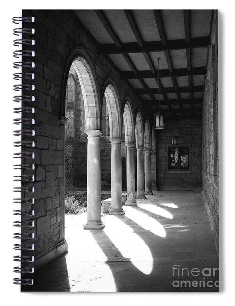 Black And White Pillars Spiral Notebook