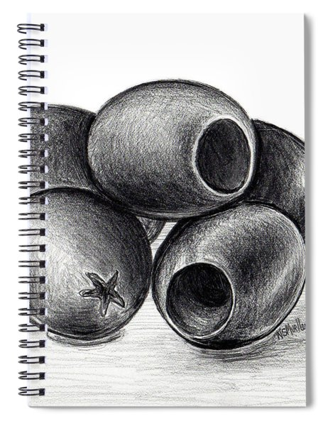 Black Olives Spiral Notebook
