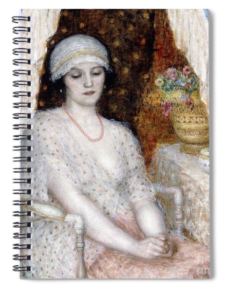 Blue Curtains Spiral Notebook