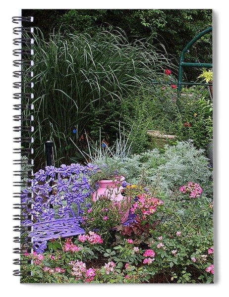Blue Garden Bench Spiral Notebook