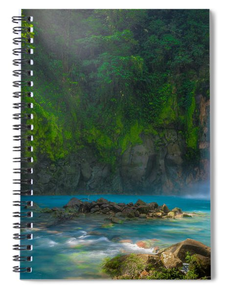 Blue Waterfall Spiral Notebook