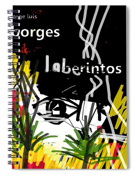 Borges' Labyrinths Poster Spiral Notebook