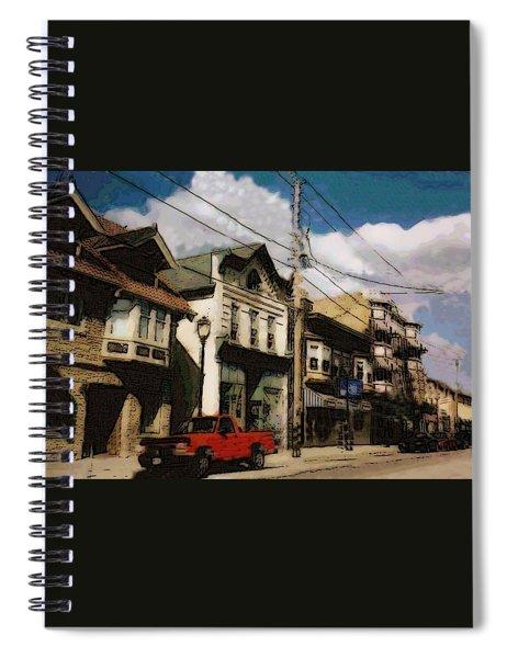 Brady Street Scene Spiral Notebook