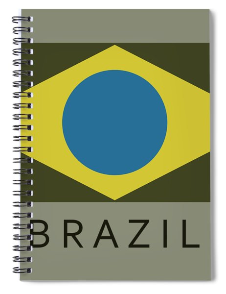 Brazil Flag Spiral Notebook