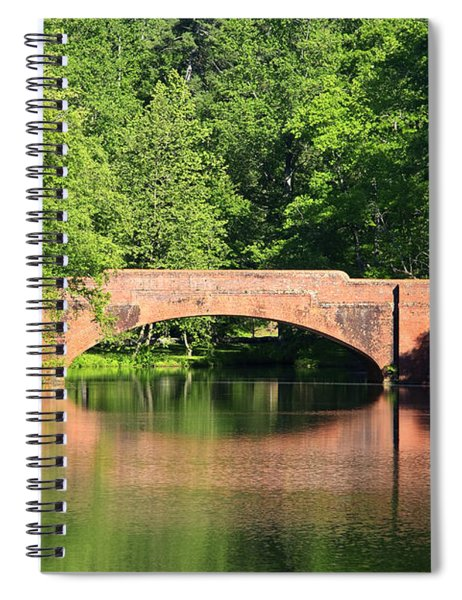 Bridge Reflection In The Spring Spiral Notebook