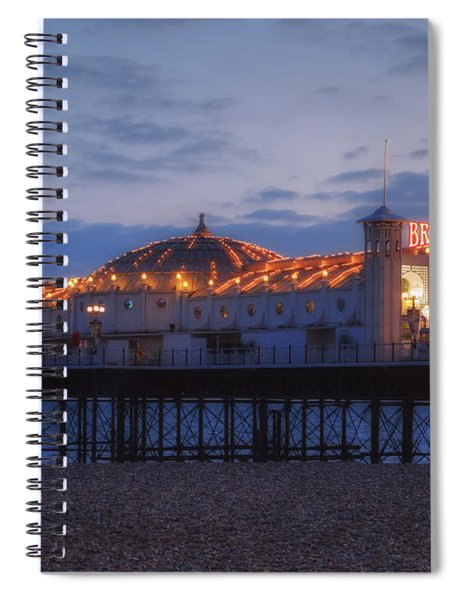 Brighton At Night Spiral Notebook
