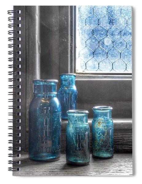 Bromo Seltzer Vintage Glass Bottles Spiral Notebook