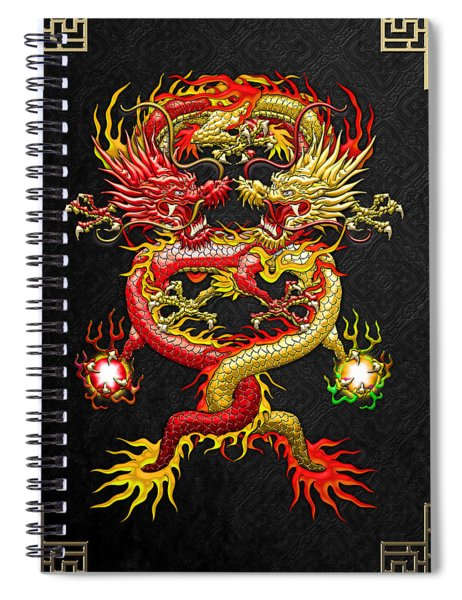 Brotherhood Of The Snake - The Red And The Yellow Dragons Spiral Notebook