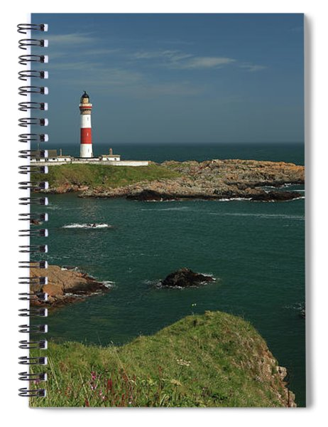 Buchan Ness Lighthouse And The North Sea Spiral Notebook