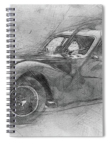 Bugatti Type 57 - Atlantic - 1934 - Automotive Art - Car Posters Spiral Notebook