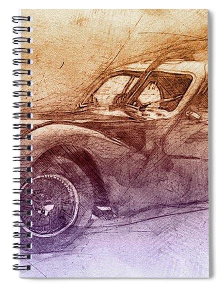 Bugatti Type 57 - Atlantic 2 - 1934 - Automotive Art - Car Posters Spiral Notebook