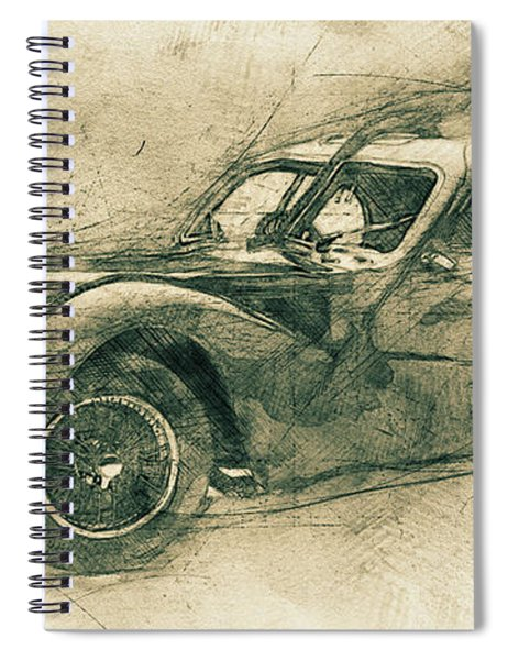 Bugatti Type 57 - Atlantic 3 - 1934 - Automotive Art - Car Posters Spiral Notebook