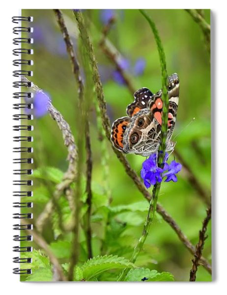 Butterfly In The Garden  Spiral Notebook