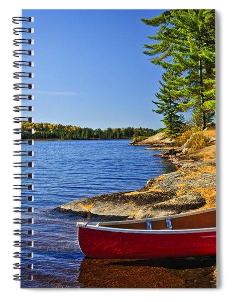 Canoe On Shore Spiral Notebook
