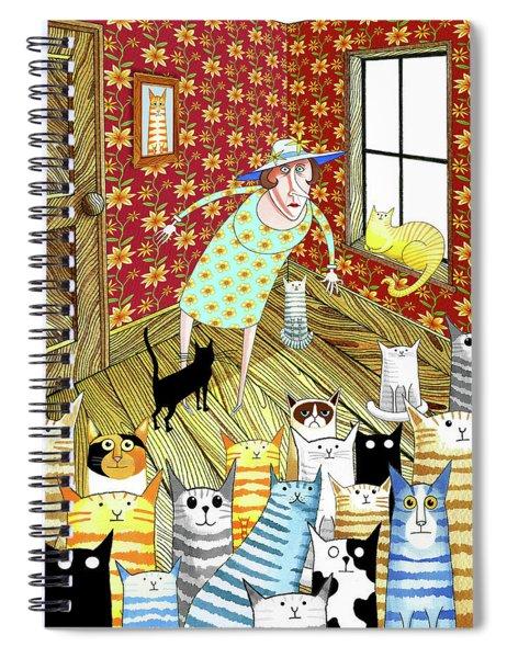 Cat Lady  Spiral Notebook