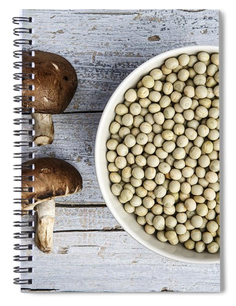 Champignons, Peas And Pepper Spiral Notebook