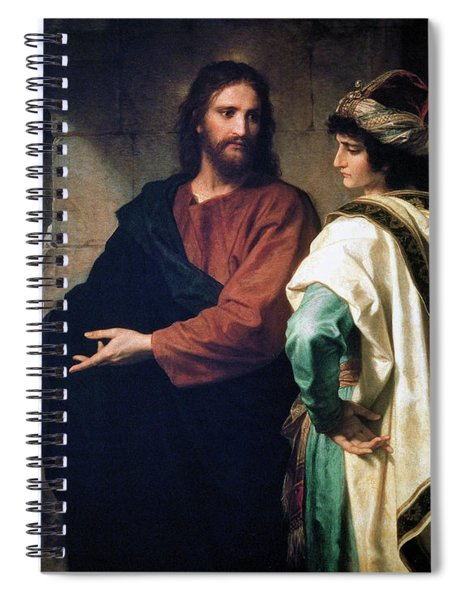 Christ And The Rich Young Ruler Spiral Notebook