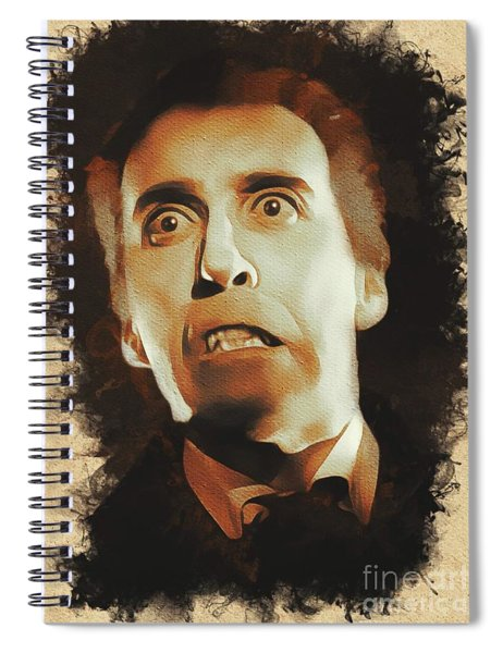 Christopher Lee As Dracula Spiral Notebook
