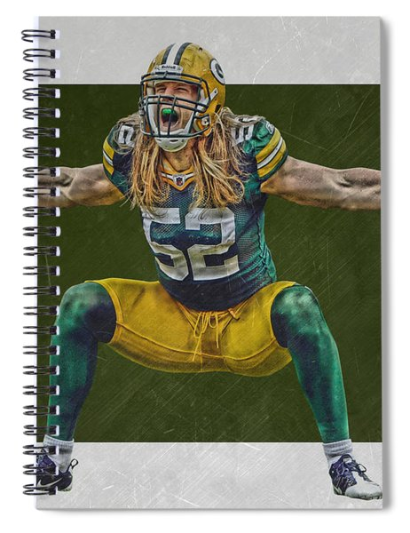 Clay Matthews Green Bay Packers Spiral Notebook