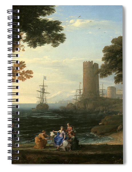 Coast View With The Abduction Of Europa Spiral Notebook