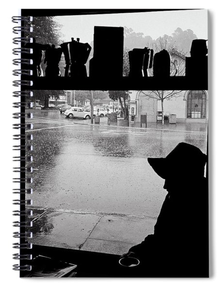 Coffee In The Rain Spiral Notebook