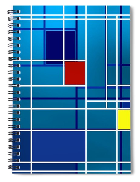 Colorist Geometric Composition Spiral Notebook