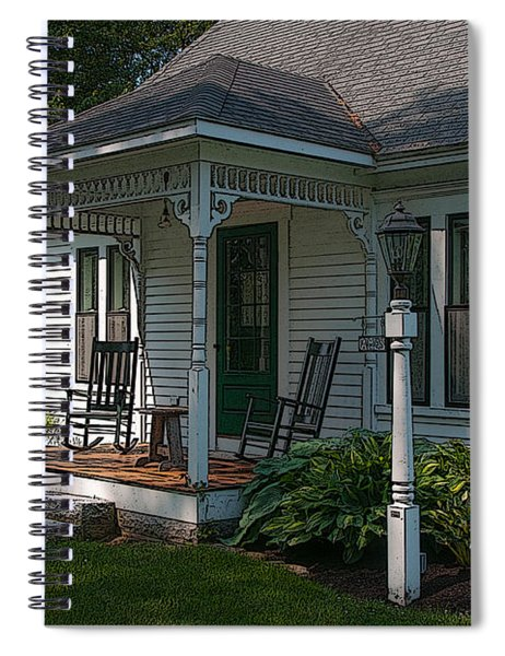 Come Sit On My Porch Spiral Notebook