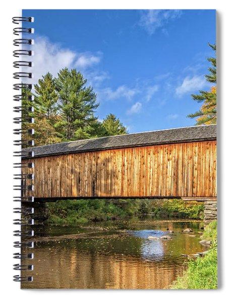 Corbin Covered Bridge Newport New Hampshire Spiral Notebook