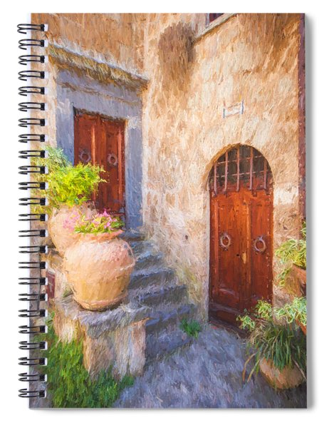 Courtyard Of Tuscany Spiral Notebook