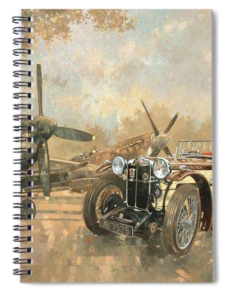 Cream Cracker Mg 4 Spitfires  Spiral Notebook