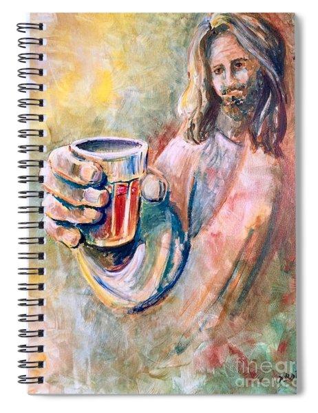 Cup Of Salvation Spiral Notebook