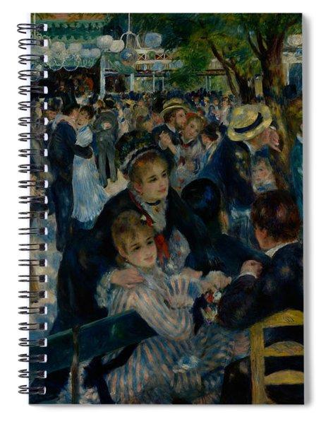Dance At Le Moulin De La Galette  Spiral Notebook