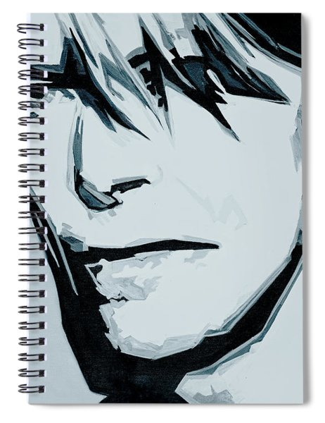 Born Under A Stone Born With A Single Voice. Bowie Spiral Notebook