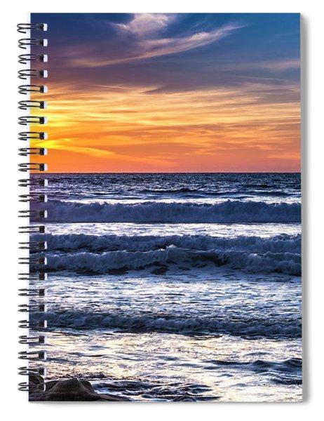 Sunset - Del Mar, California View 1 Spiral Notebook
