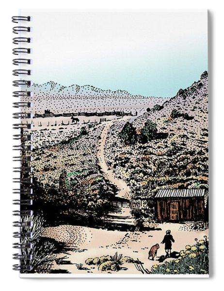 Desert Home Colored Spiral Notebook