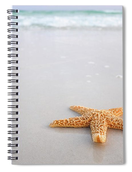Spiral Notebook featuring the photograph Destin Florida Miramar Beach Starfish by Robert Bellomy