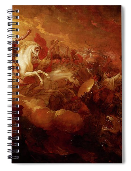 Destruction Of The Beast And The False Prophet Spiral Notebook