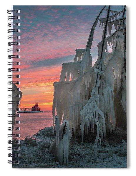 Distant Lighthouse Spiral Notebook