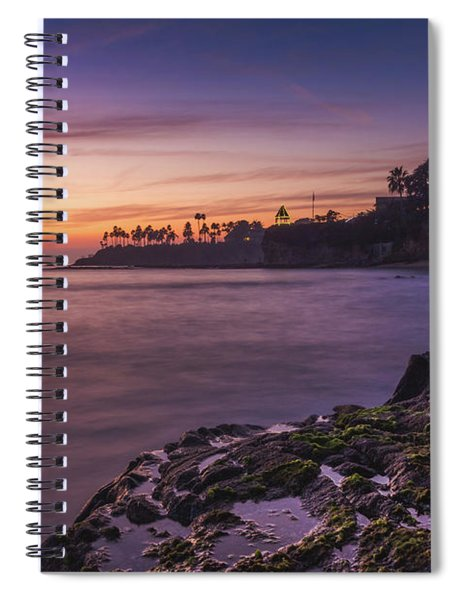 Diver's Cove Sunset Spiral Notebook