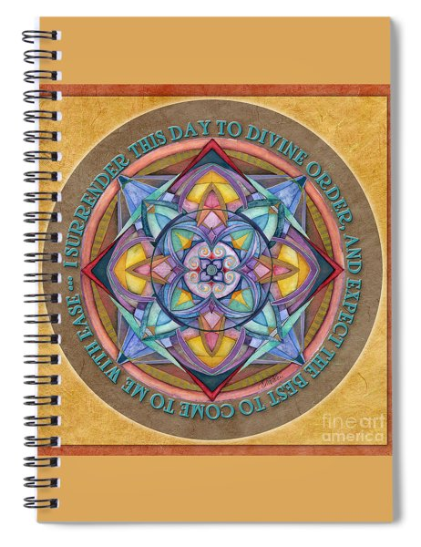 Divine Order Mandala Prayer Spiral Notebook
