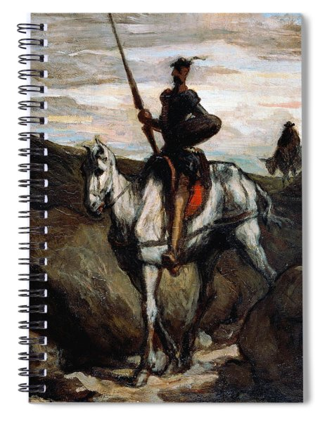 Don Quixote In The Mountains Spiral Notebook