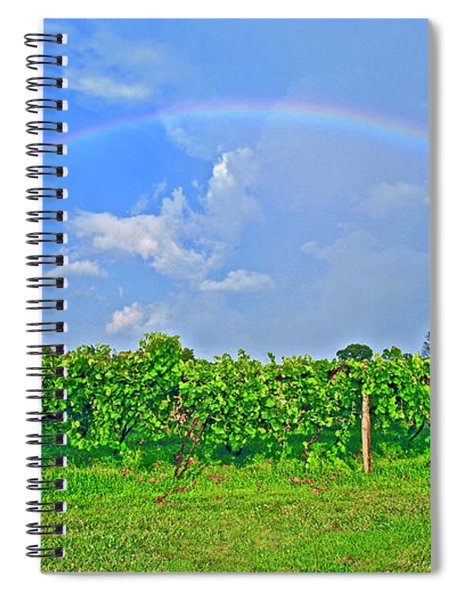 Double Rainbow Vineyard, Smith Mountain Lake Spiral Notebook