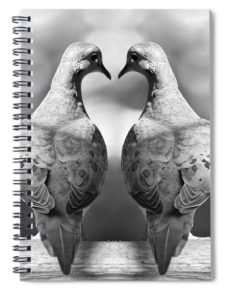 Dove Birds Spiral Notebook